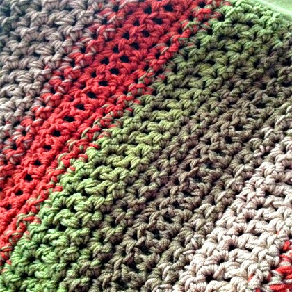 Free Pattern: Fast and Easy Crochet Throw - 2 Stripe Options