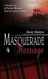 text on cover reads: A Secret List, A Fugitive Warrior, and One Life-Saving Option.  There is a red and black plaid pattern in the foreground and an older building, perhaps a church, in the background.