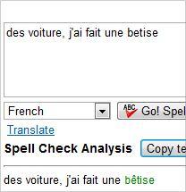 Correcteur d'orthographe google