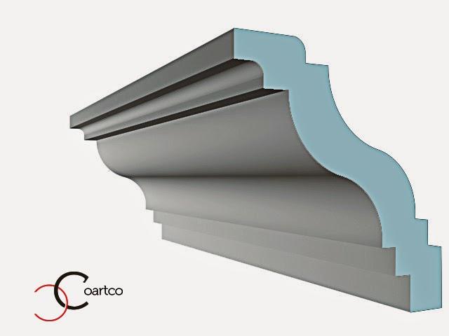 cornisa tavan din polistiren extrudat alb, dimensiuni, modele, pret