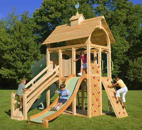 Spike speaks the office of good deeds invites you to do a for Build a swing set playhouse