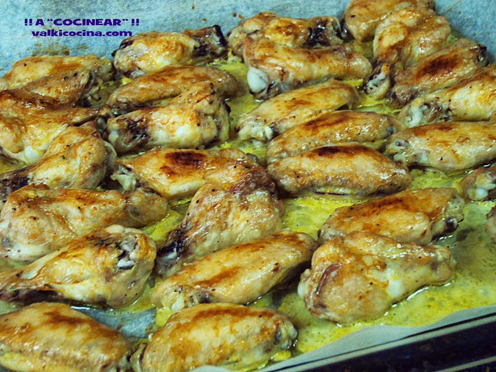 Alitas de pollo al horno con curry a cocinear for Cocinar 2 muslos de pollo