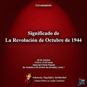 Conversatorio sobre la Revolución de 1944 en Guatemala