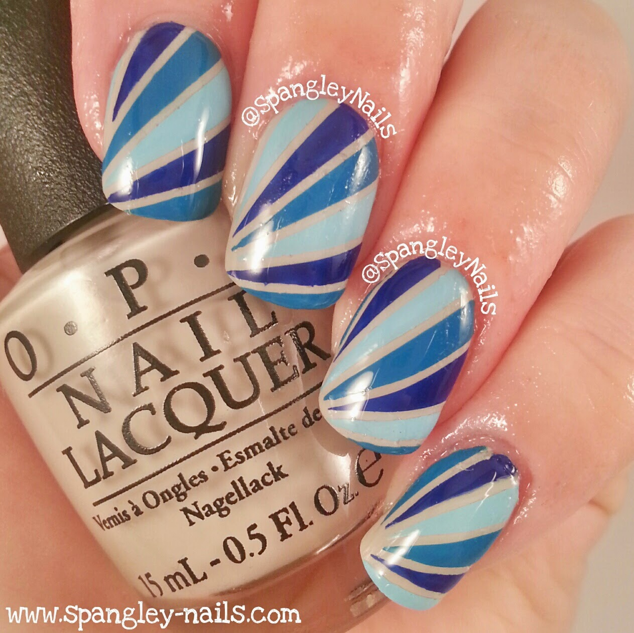 Striping Tape Nail Art Tutorial: UK Nail Art Blog: Feeling Blue? Striping