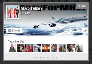 FB Like box untuk blogspot blogger.