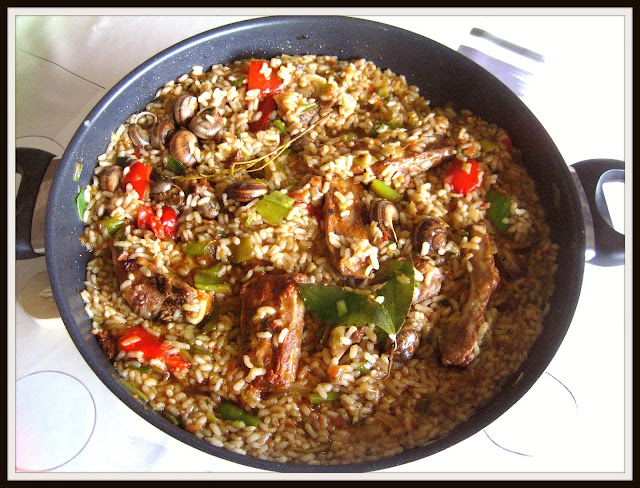 arroz con carne, arroz con costillas de cerdo, arroz con caracoles, recetas de carne, recetas con arroz