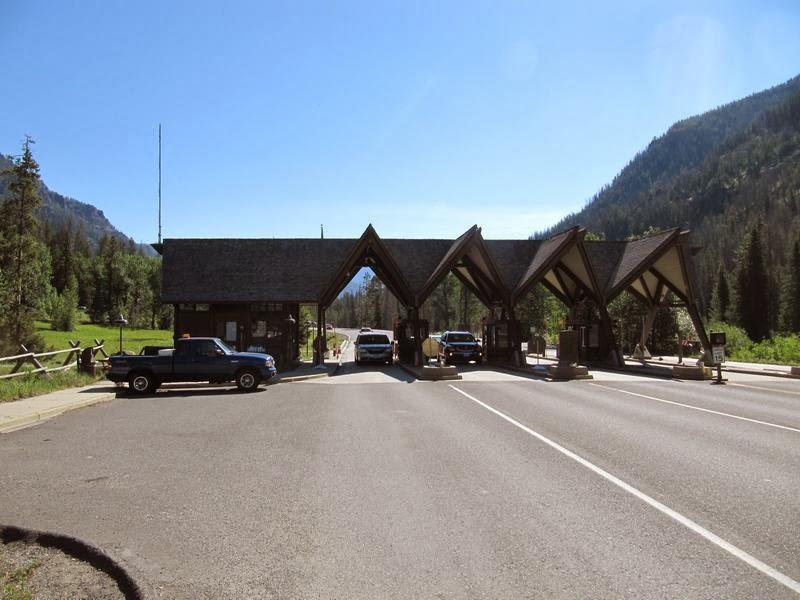 Entrada de Yellowstone, casetas de guardas parque yellowstone