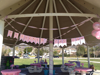princess party with banner