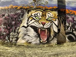 Grapyzona 3d Animals Graffiti Wall Background