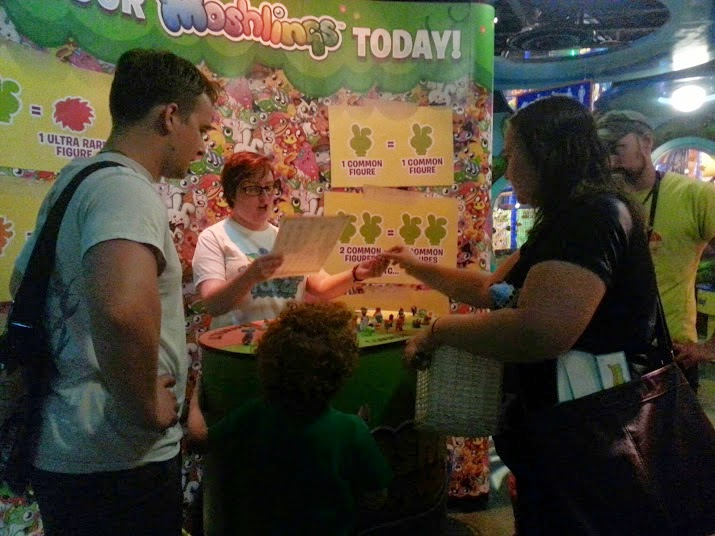 Moshi Monsters at Sea Life, Trafford Park, Manchester. Swapping moshlings