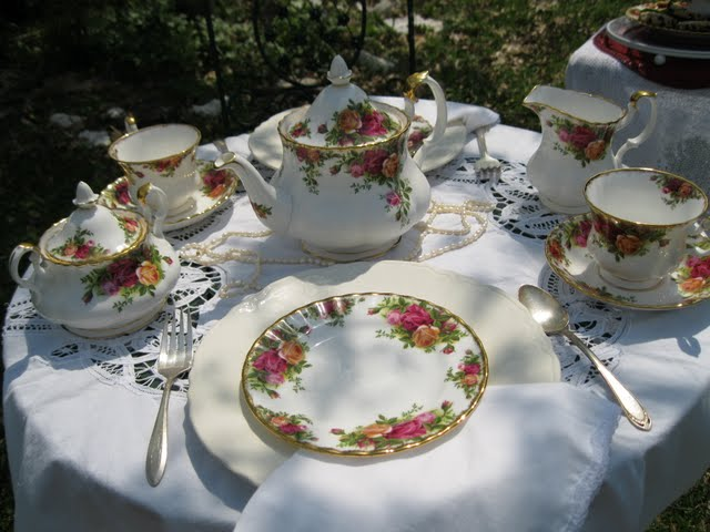 Wish you were here to join me for a lovely time having Tea & Royal Albert Old Country Roses China Tea Set | Lady Katherine Tea Parlor