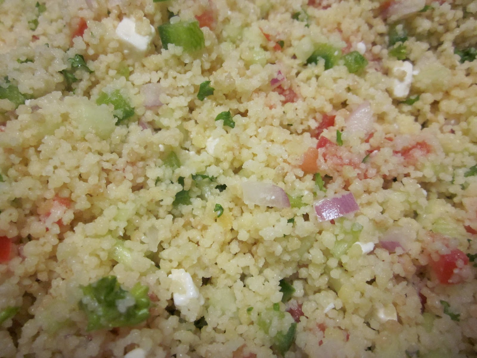 Eat at Andrea's: Farro with Feta, Cucumbers and Sun-Dried ...