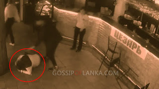 Gossip Lanka, Hiru Gossip, Lanka C News - Russian waitress smacks up unruly customer -  CCTV