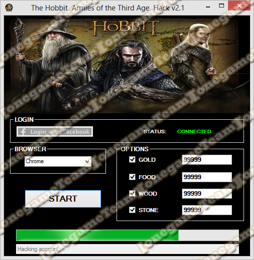 The Hobbit: Armies of the Third Age Hack v2.1 Features: