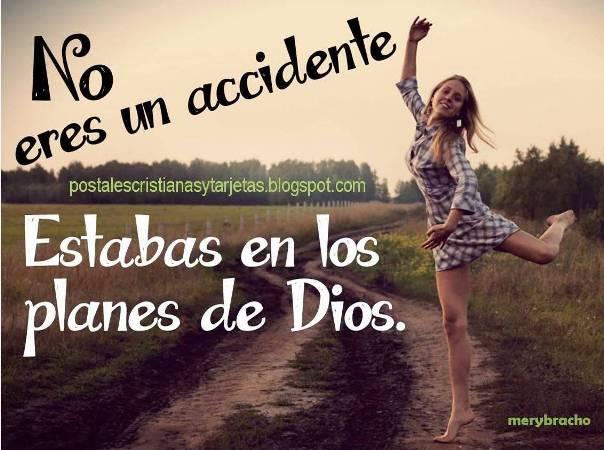 T   No Eres Un Accidente  Dios Te Hizo  Postal Cristiana Juvenil Dios