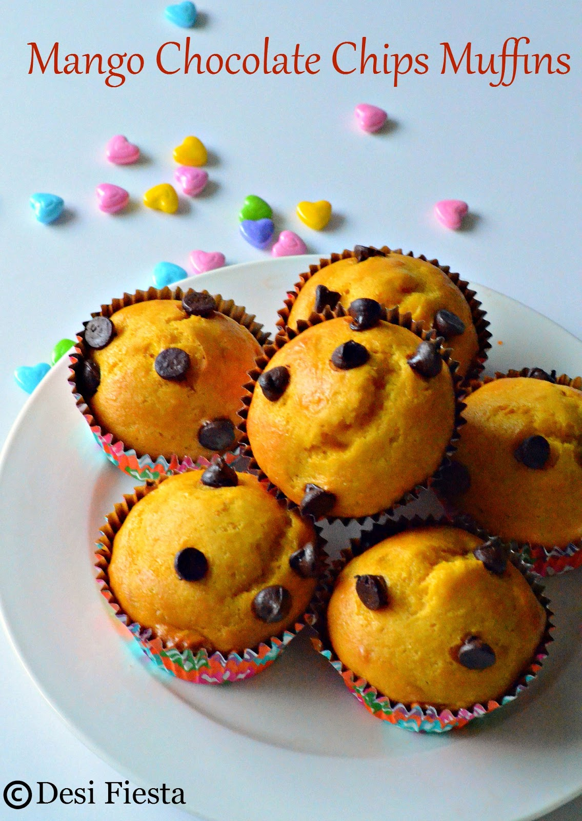 Muffins with fruits recipe