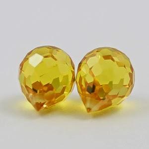 golden yellow onion cz stones