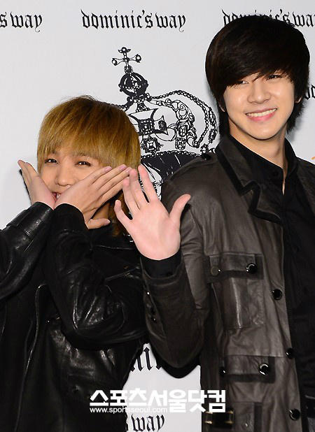 MBLAQ Mir and Thunder at Seoul Fashion Week 121022