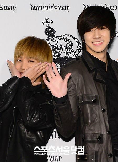 MBLAQ Mir and Thunder at Seoul Fashion Week 121022