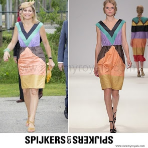 Queen Maxima Style SPIJKERS EN SPIJKERS Dress