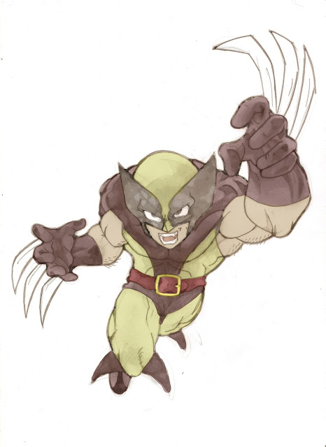wolverine, akira toriyama, dibujo fan art