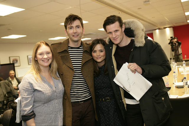 David Tennant & Billie Piper Return To Doctor Who: Press ... David Tennant Billie Piper 50th Anniversary
