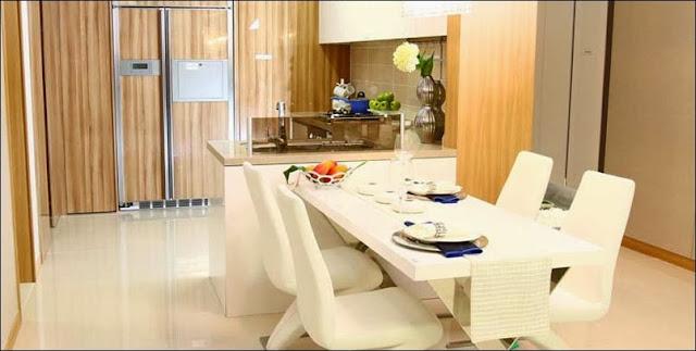 Phòng bếp căn hộ Cantavil Premier