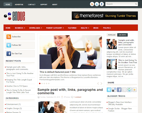 Endue Blogger Theme