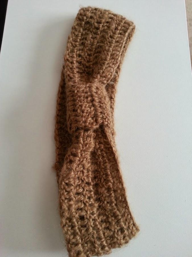 Una diadema a crochet para este invierno