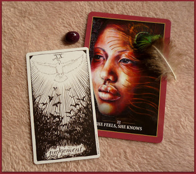 Sacred Rebels Oracle She feels, she knows, Wild Unknown Tarot Judgement