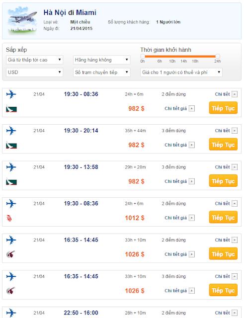 Vé máy bay đi Miami giá rẻ 2015_2