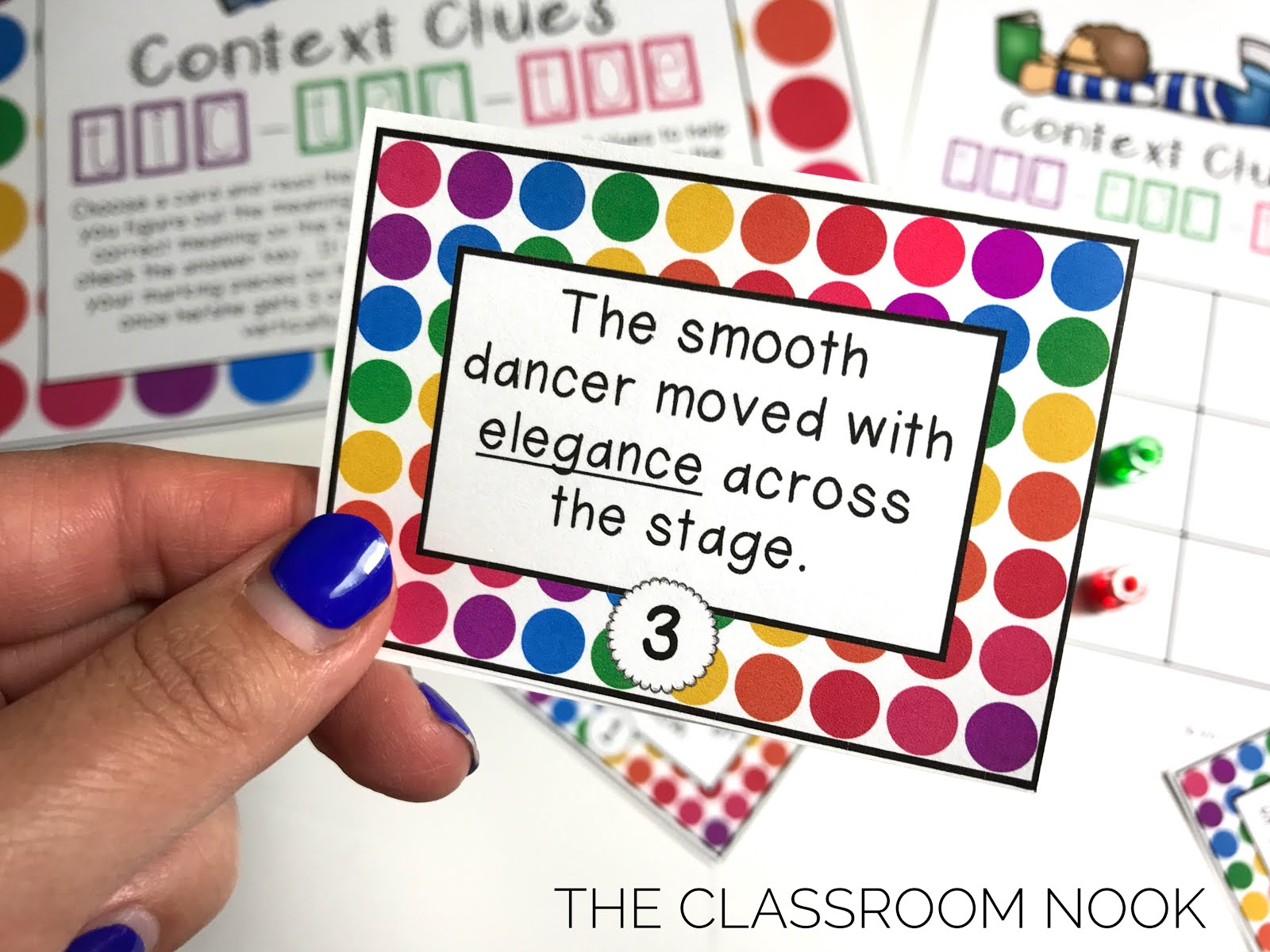 FREEBIE: Context Clue Tic-Tac-Toe Game by The Classroom Nook | TpT