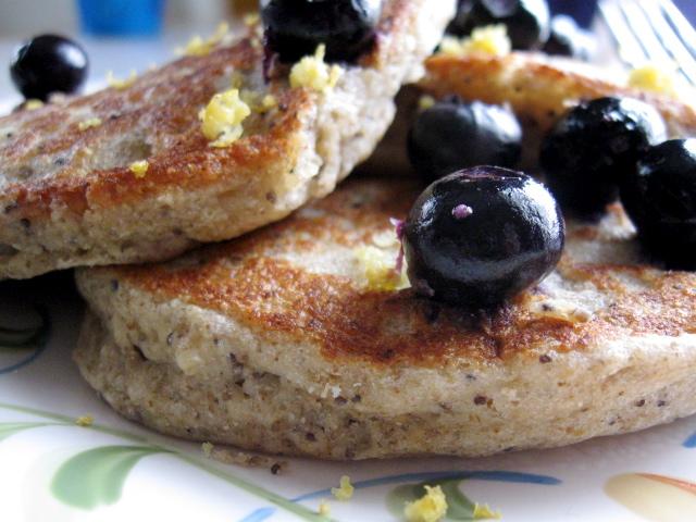Hope For Healing: Whole Grain Lemon Poppyseed Pancakes (vegan)
