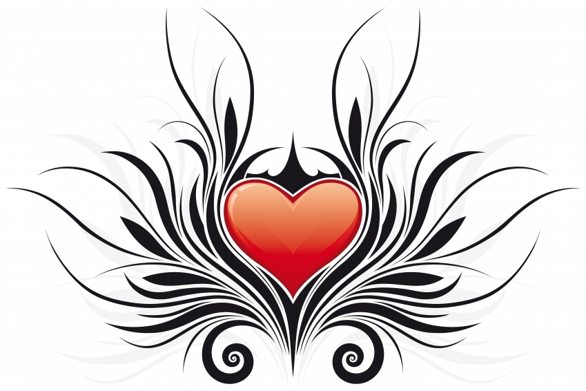 Tribal Heart Tattoo Designs with Sexy wings for girls lower back and ...