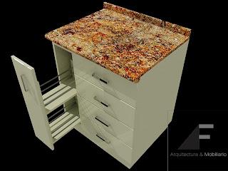 Af arquitectura y mobiliario mobiliario para cocina 2 - Cajoneras de cocina ...
