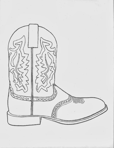 Cowboy Hat And Boots Coloring Page