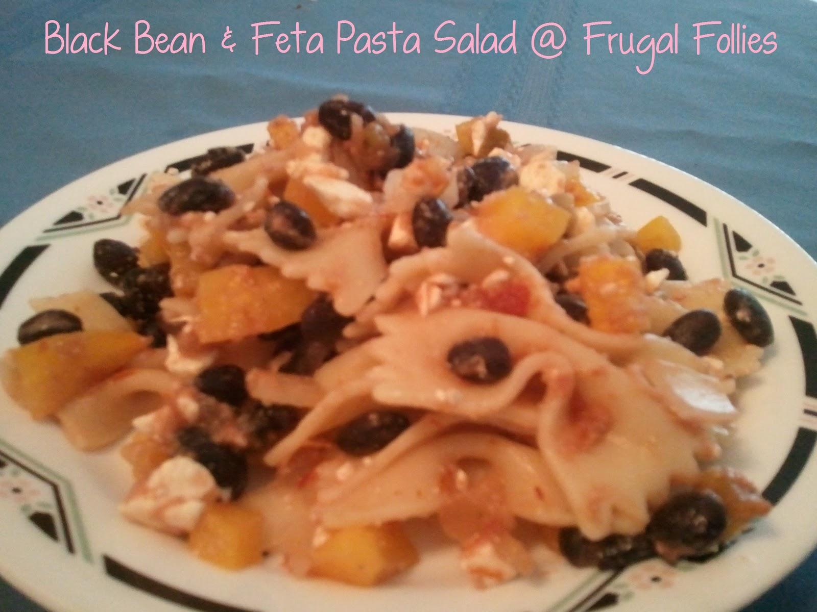Black Bean and Feta Pasta Salad (Frugal Food Thursday) | Frugal ...