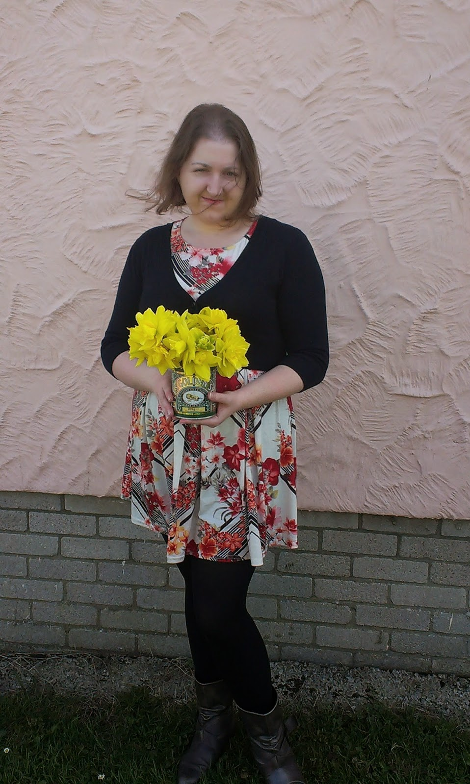 Me with daffodils