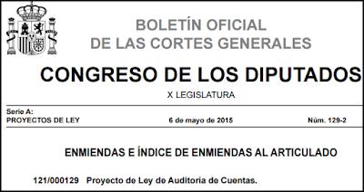 Enmiendas Proyecto de Ley de Auditoría de Cuentas