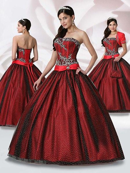 Vestidos de 15 años color vino tinto - Imagui