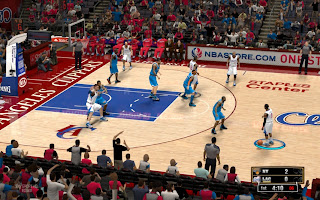 NBA 2K13 Staples Center - Clippers Court Patch