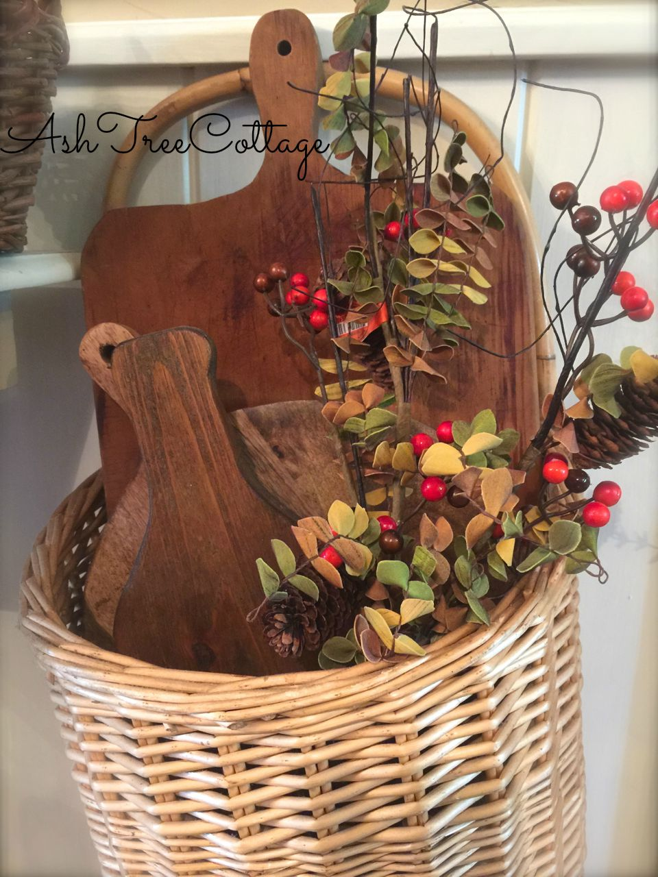 Ash Tree Cottage Decorating Baskets for Fall