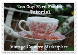 Tea Cup Bird Feeder Tutorial