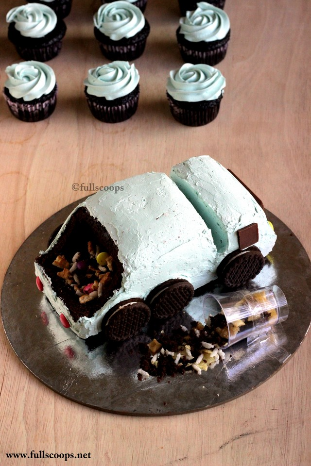 How To Make A Garbage Truck Cake Full Scoops A Food Blog With