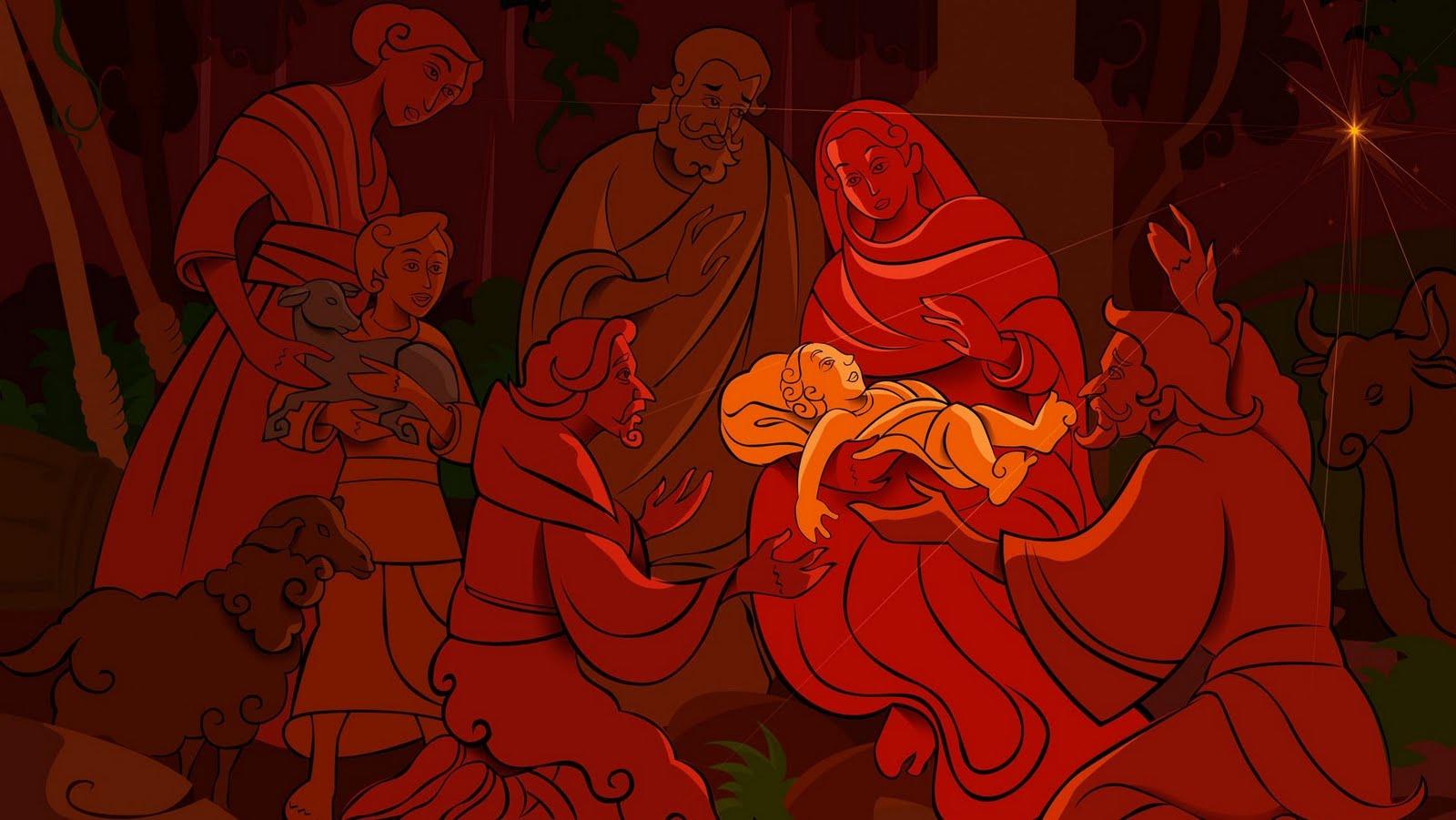 Birth of Christ Celebrations Wallpaper (1920x1200) Black  - birth of christ celebrations wallpapers