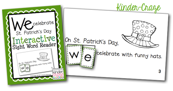 St. Patrick's Day themed Emergent Reader, only $1