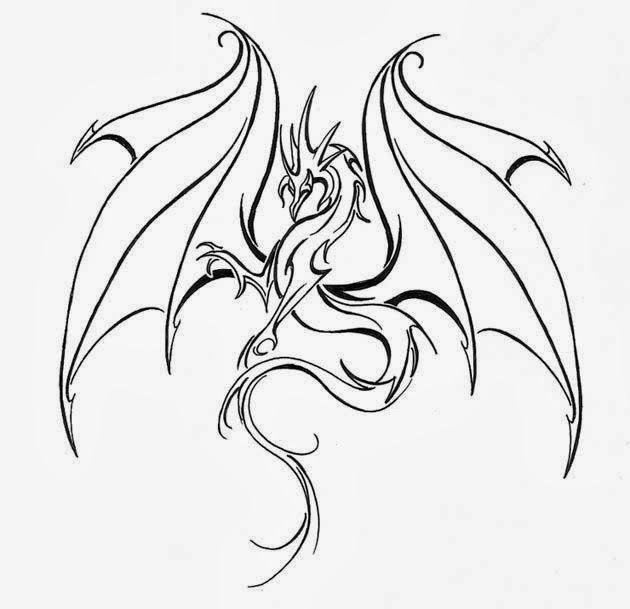 Adaptable image intended for dragon stencil printable