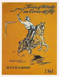 Coria del Río - Feria 1964 - Cartel de Martínez de León