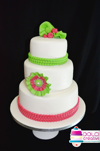 Fluo Wedding cake