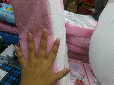 meiling wijaya kasur busa kepala hello kitty sold out